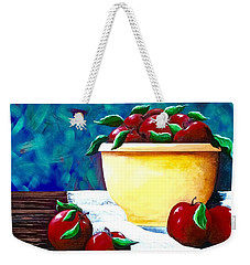 Yellow Bowl Of Apples Weekender Tote Bag