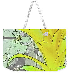 Yellow Bromeliad Flower Weekender Tote Bag by Tony Grider