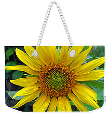 Yellow Burst Weekender Tote Bag
