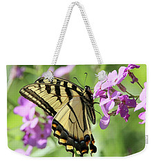 Yellow Butterfly Weekender Tote Bag by David Stasiak