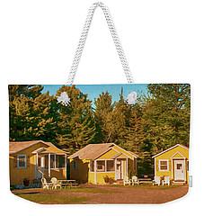 Yellow Cabins Weekender Tote Bag