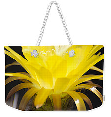 Yellow Cactus Flower Weekender Tote Bag by Jim And Emily Bush