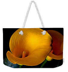 Yellow Calla Lilies - 02 Weekender Tote Bag by Tony Grider