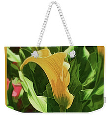 Yellow Calla Lilly Weekender Tote Bag by Luther Fine Art