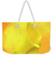 Yellow Calla Lily Weekender Tote Bag by Cyndy Doty