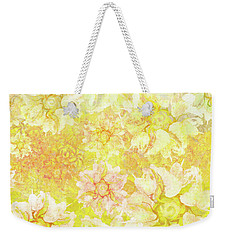Yellow Camellia Hedges Weekender Tote Bag