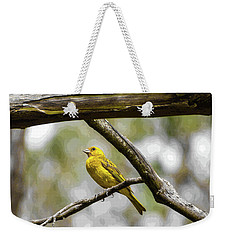 Yellow Canary Weekender Tote Bag