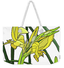 Yellow Canna Lilies Weekender Tote Bag by Jamie Downs