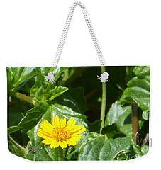 Yellow Caribbean Flower Weekender Tote Bag by Margaret Brooks