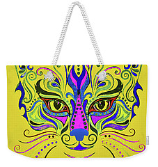 Yellow Cat Weekender Tote Bag