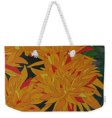 Yellow Chrysanthemums Weekender Tote Bag by Hilda and Jose Garrancho