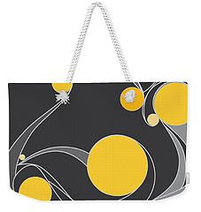 Yellow Circles Abstract Design Weekender Tote Bag