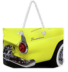 Yellow Classic Thunderbird Car Weekender Tote Bag