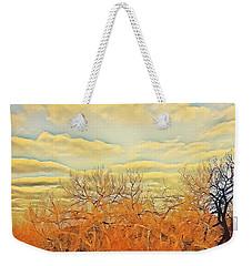 Yellow Clouds Weekender Tote Bag