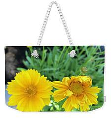 Yellow Coreopis Weekender Tote Bag
