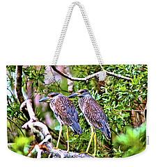Yellow Crested Night Herons Weekender Tote Bag