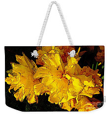 Weekender Tote Bag featuring the photograph Yellow Daffodils 4 by Jean Bernard Roussilhe
