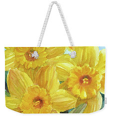 Yellow Daffodils Weekender Tote Bag by Janet Zeh