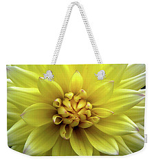 Yellow Dahlia Weekender Tote Bag