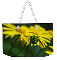 Yellow Daisy Bud Weekender Tote Bag