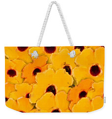 Yellow Daisy Flowers Weekender Tote Bag