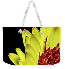 Yellow Daisy Peeking Weekender Tote Bag