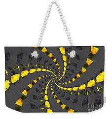 Yellow Daisy Spin Wheel  Weekender Tote Bag