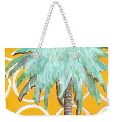 Yellow Delilah Palm Weekender Tote Bag