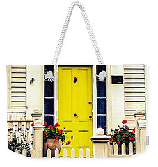 Weekender Tote Bag featuring the photograph Yellow Door by Kendall McKernon