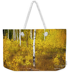 Weekender Tote Bag featuring the photograph Yellow Fall Aspen by Craig J Satterlee