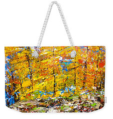 Yellow Fall Burst Weekender Tote Bag