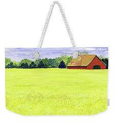 Yellow Field Weekender Tote Bag by Anne Marie Brown