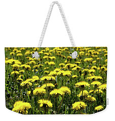 Yellow Field Two  Weekender Tote Bag by Lyle Crump
