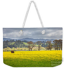 Yellow Fields Along The Eel River Weekender Tote Bag