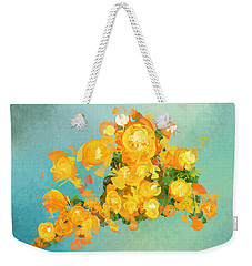 Yellow Fire Spring Weekender Tote Bag