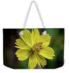 Weekender Tote Bag featuring the photograph Yellow Flower by Ed Clark