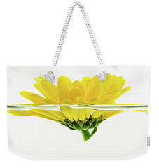 Yellow Flower Floating In Water Weekender Tote Bag