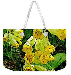 Yellow Flowers 2 Weekender Tote Bag by Jean Bernard Roussilhe