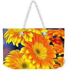 Yellow Flowers In Thick Paint Weekender Tote Bag