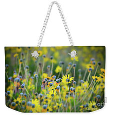 Weekender Tote Bag featuring the photograph Yellow Flowers by Kelly Wade