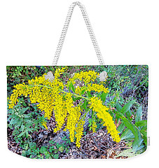 Yellow Flowers On Green Weekender Tote Bag