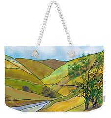 Yellow Foothills Weekender Tote Bag