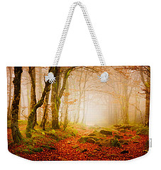 Yellow Forest Mist Weekender Tote Bag
