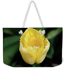 Yellow Fringe Tulip Weekender Tote Bag by Victoria Harrington