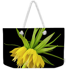 Weekender Tote Bag featuring the photograph Yellow Fritillaria Imperialis by Jim Hughes