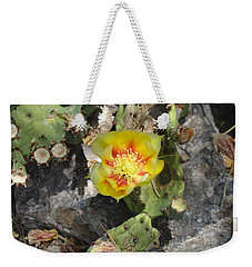 Yellow Cactus Flower Blossom Weekender Tote Bag