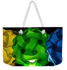 Yellow Green And Blue Weekender Tote Bag by Lori Seaman