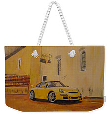 Yellow Gt3 Porsche Weekender Tote Bag