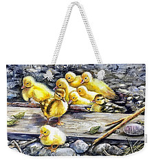 Yellow Happiness Weekender Tote Bag