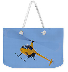 Yellow Helicopter Weekender Tote Bag